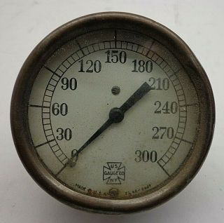 Vintage Us Gauge Co.  0 - 300 Guage 2 1/2 Ad - 2669 Steampunk -
