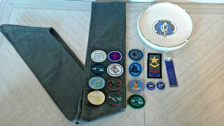 Vintage Seventh - Day Adventist Pathfinder Sash,  Sda,  Patches,  Pins,  Mixed,