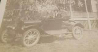Antique Photo,  Early Model T Woman N Front Of House Birmingham,  Alabama