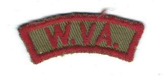 Vintage Boy Scout Patch Bsa W.  Va.  Trs Tan And Red State Strip