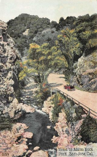 San Jose,  Ca California Automobile On Road To Alum Rock C1910