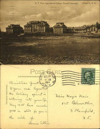 1914 Ithaca,  Ny N.  Y.  State Agricultural College,  Cornell University York