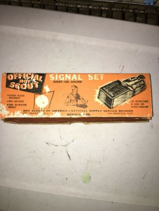 Vintage Bsa Boy Scouts Of America Official Signal Set Morse Code Trainer