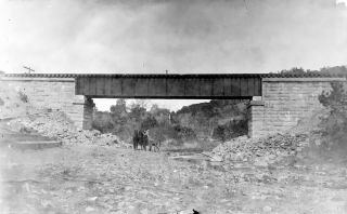 (4) Glass Negatives - Bridges & Railway Construction 15 - Early 1900