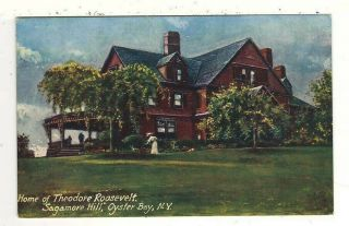 C1910 Homes Of U.  S.  Presidents Tuck Postcard:theodore Roosevelt – Oyster Bay,  Ny