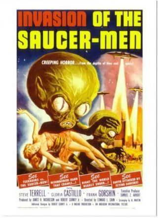 Postcard Of Invasion Of The Saucer - Men Movie