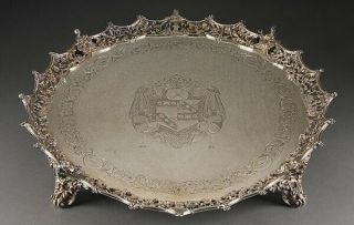 Silver Tray 275 Oz George Iii Era 1773