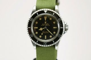 Rolex Submariner Ref 5513 Vintage Gilt Dial Dive Watch Circa 1960s Meters First