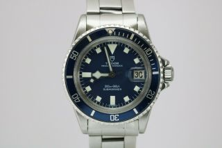 Vintage Tudor Prince Oyster Date Submariner 9411/0 Snow Flake Blue Dial 1970s