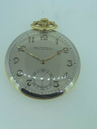 Patek Philippe & Co 3x Signed Two Tone 18k And Platinum Pocket Watch Exc Runs Nr