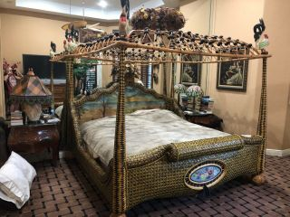Bed - King Size - Mackenzie - Childs Rare In