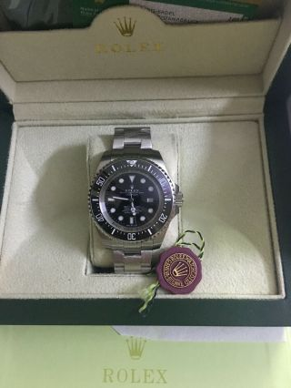 Rolex Sea - Dweller Deepsea Black On Black Ceramic Steel 3900m Watch 116610