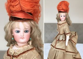 "Magnificent 16 "" Francois Gaultier Costume Antique French Fashion Doll"