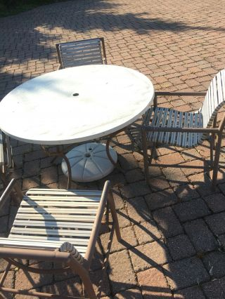 8 Pc Vintage Mid Century Modern Molla Patio Set