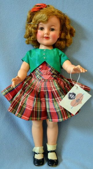 "Vintage All Ideal 19 "" Shirley Temple Doll Wearing Tagged Outfit"