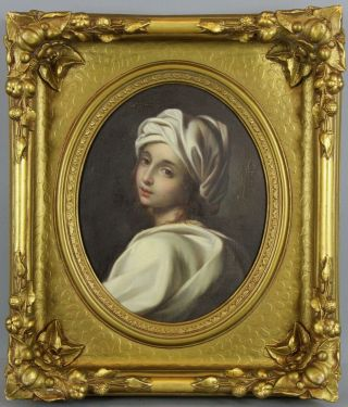 Antique Italian Baroque Old Master Painting,  Beatrice Cenci After Guido Reni