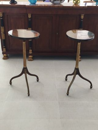 Two Baker Furniture Stately Homes Pedestal Accent Tables,  Orig.  $8,  000 Each