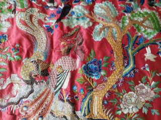 ANTIQUE 19TH CENTURY CHINESE SILK TAPESTRY EMBROIDERY ORIENTAL TABLE RUNNER 5ft 6