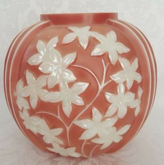 Antique Phoenix Consolidated Star Flowers Art Glass Vase 1930