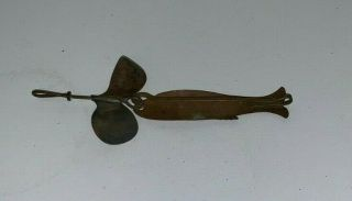 Vintage,  Chapman & Sons,  Theresa,  N.  Y. ,  2,  Copper Fishing Lure (4 - 3/4 Inches Long)