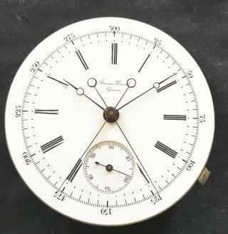 Extremely Rare James Picard Split Second Chronograph Pocket Watch Mov
