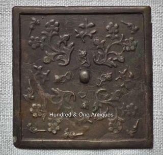 Antique Chinese Bronze Mirror Tang Dynasty 618 - 907 A.  D.