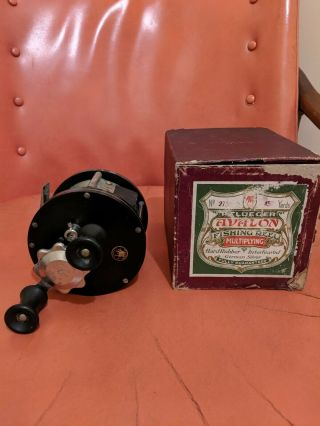 Vintage Pflueger Avalon 450 Yard Reel With Box Sea Reel Wow