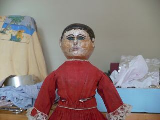 Antique Cloth Folk Art Rag Doll