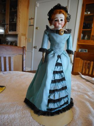 Antique Bisque Headed Unmarked French Fashion Doll