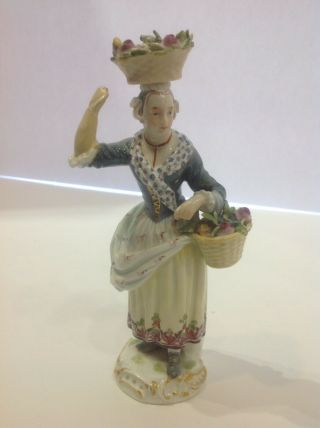Meissen Porcelain Figure Of A Girl As - Is.  19th Century Germany