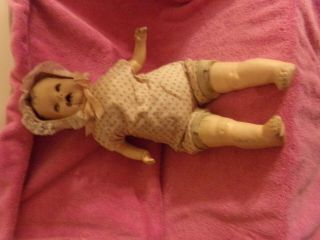 Creepy Antique Doll 23 Inches Tall