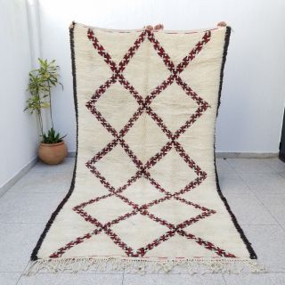 100 Authentic Highest Quality Vintage Beni Ourain Moroccan Rug 11