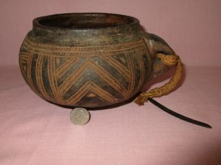 Ancient African Pre Columbian Pottery Redware Earthenware Incised Pot Vase