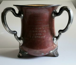Gorham 1904 Brooklawn Country Club Silver And Copper Trophy Vase