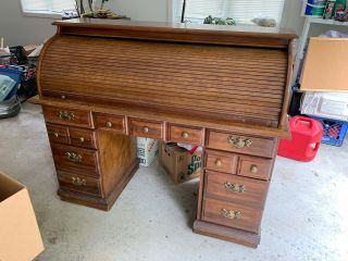 Antique Large Roll Top Desk - We Are Moving.  Needs To Go