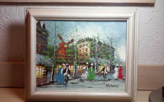 Stunning,  Vintage Oil Painting Framed And Signed