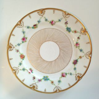 Set 11 Exquisite Cauldon For Tiffany & Co.  Decorated,  Raised Gold Dinner Plates