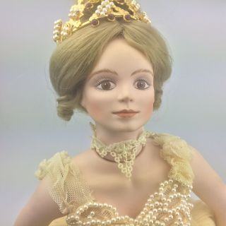 "Vtg 1986 Cindy Mcclure Victoria Impex Sugar Plum Fairy 21 "" Porcelain Doll"