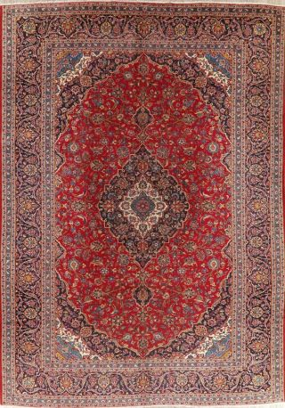 Traditional Floral Oriental Area Rug Wool Hand - Knotted Living Room Carpet 10x13