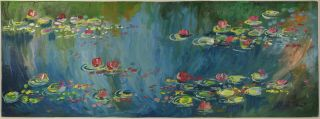 Claude Monet Signed Antique Rare Oil Painting On Cardboard,  Picasso,  Manet Era