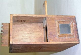 Antique Wooden Pine Bee Lining Or Hunting Box Apiary Beekeeping W Glass Window