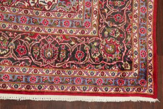 Vintage Traditional Floral Red Area Rug Hand - Knotted Living Room Carpet 10