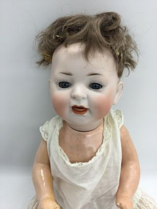 "Antique Germany Bisque Head Baby Doll Composition Body Jointed 15 "" 152 On Back"
