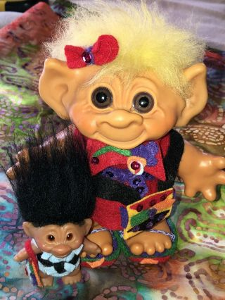 Two Vintage Trolls,  Both Are In.  Dam