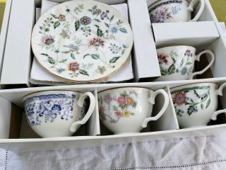 In The Box Set Of 5 Tea Cup & Saucer Made In Japan Bon La Seine