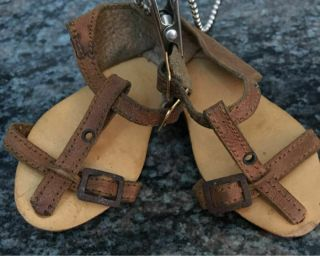 Rare - Htf Early Antique Kathe Kruse Leather Sandals.