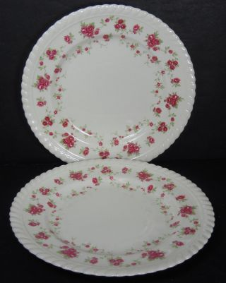 Johnson Brothers England China Rambler Rose Dessert Plate - Set Of Two (2) @ 7 ""