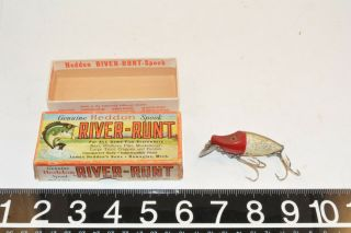Old Heddon River Runt Lure Bait In The Box Great Colors Michigan 1950