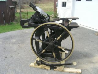 Chandler And Price 10x15 Antique Letterpress Printing Press.