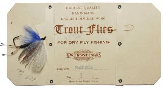 Antique G.  W.  Frost & Sons Fly Fishing Trout Fly On Card